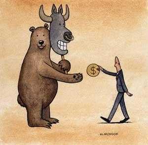 Кто такие быки и медведи на фондовой бирже, на фондовом рынке, на рынке ценных бумаг, на валютном рынке. Индикатор. Быки и медведи Википедия. Против.